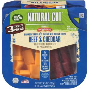 Old Wisconsin Beef & Cheddar 3 Snack Packs