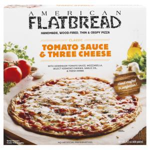 American Flatbread Tomato Sauce & Three Cheese Pizza