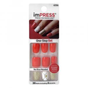 KISS Impress Press-On Manicure One-step Gel Flash Mob