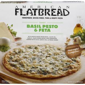 American Flatbread Basil Pesto & Feta Pizza