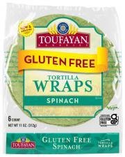 Toufayan Gluten Free Spinach Wraps