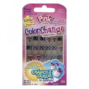 Kiss Nails Pink Clear Sticker Belle