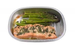Grab n Go Salmon & Asparagus Meal with Lemon Butter