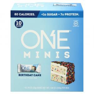 One Birthday Cake Minis Protein Bar