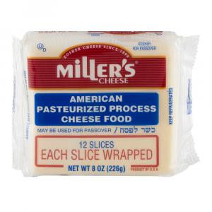 Miller's American White Cheese Singles Wrapped