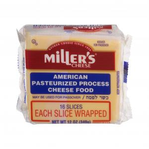 Miller's Cheese American Yellow Sliced Individually Wrapped