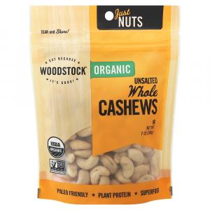 Woodstock Farms Organic Whole Raw Cashews