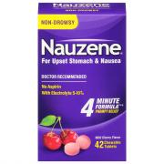 Nauzene Wild Cherry Flavor Chewable Tablets