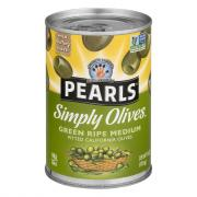Pearls Simply Olives Green Ripe Medium Pitted Olives