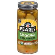 Pearls Organic Red Pepper Stuffed Green Olives