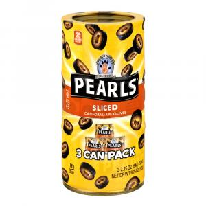 Pearls Sliced California Ripe Black Olives