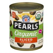 Pearls Organic Sliced Ripe Black Olives