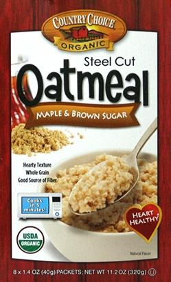 Country Choice Organic Maple & Brown Sugar Oatmeal