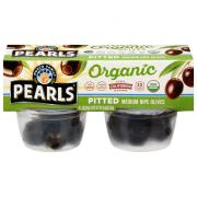 Pearls Organic Olives To Go! Black Pitted Olive Snack Cups