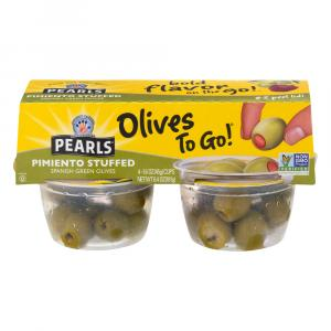 Pearls Olives To Go! Pimiento Stuffed Green Olive Snack