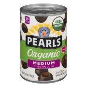 Pearls Organic Medium Pitted Black Ripe Olives