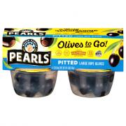 Pearls Olives To Go! Black Pitted Olive Snack Cups