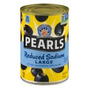 Pearls Reduced Sodium Large Pitted Ripe Black Olives