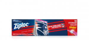 Ziploc New England Patriots Storage Slider Gallon Bags