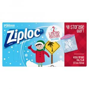 Ziploc Holiday Quart Storage Bags