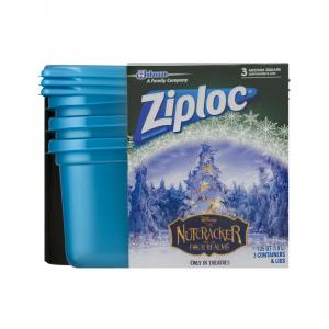 Ziploc Holiday Medium Square Blue Containers And Lids