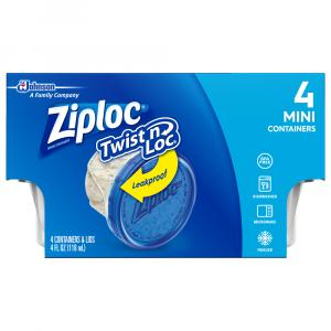 Ziploc Twist N Loc Leakproof Mini Containers