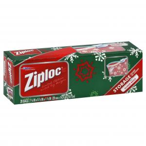 Ziploc Holiday Slider Storage Bags Quart