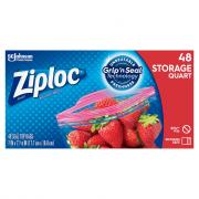 Ziploc Quart Double Zipper Storage Bags