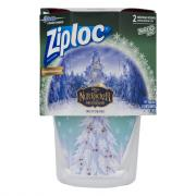 Ziploc Medium Round Twist N Loc Holiday Red Containers