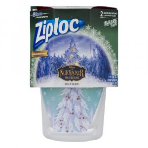 Ziploc Medium Round Twist N Loc Holiday Red Containers
