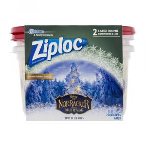 Ziploc Holiday Large Round Printed Containers and Lids