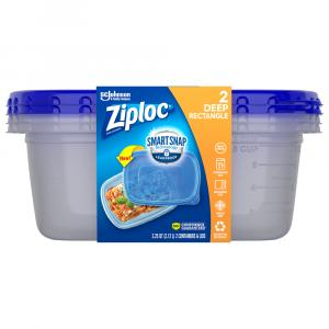 Ziploc Large Rectangle Containers & Lids