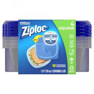 Ziploc Small Square Containers & Lids