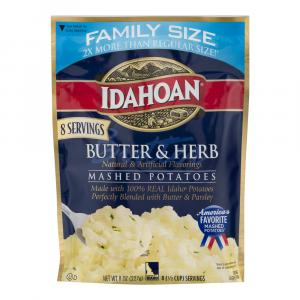 Idahoan Butter & Herb Mashed Potatoes Family Size