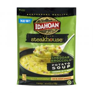 Idahoan Premium Steakhouse Cheddar Broccoli Potato Soup