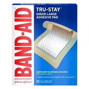 Band-aid Sheer Large Adhesive Pads