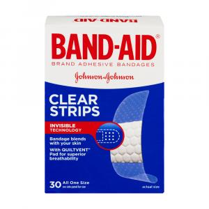 Band-aid Clear Strips One Size