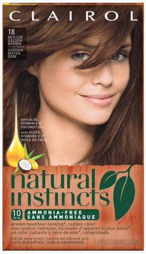 Clairol Natural Instincts #18 Pecan Hair Color Kit