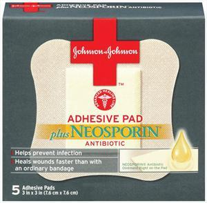 Johnson's First Aid Adhesive Pads W/neosporin