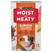 Purina Moist & Meaty Burger & Cheese Dog Food