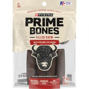 Purina Prime Bones Chew Stick with Pasture-Fed Bison Small