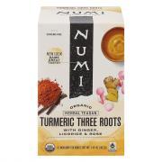 Numi Organic Tumeric Three Root Tea Bags