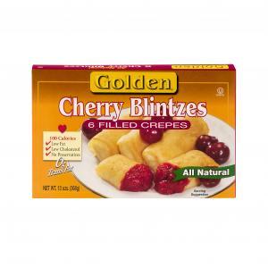 Golden Cherry Blintzes