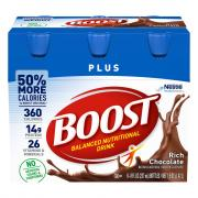 Boost Plus Chocolate Nutrition Drink