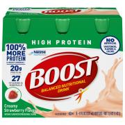 Boost High Protein Strawberry Nutrition Drink