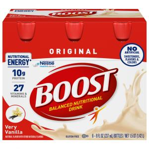 Boost Regular Vanilla Nutrition Drink
