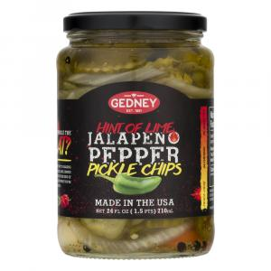 Gedney Hint of Lime Jalapeno Pepper Pickle Chips