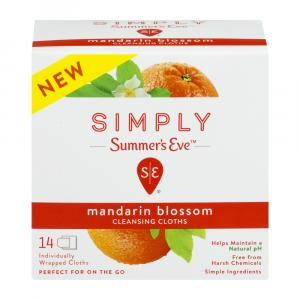 Summer's Eve Mandarin Blossom Cleansing Cloths