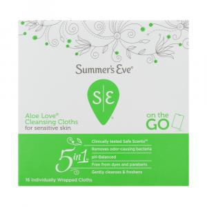 Summer's Eve Aloe Love Cleansing Cloths Sensitive Skin