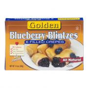 Golden Blueberry Blintzes
